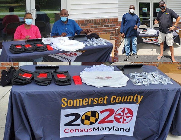 Promoting Census 2020 at a Princess Anne Food Districution in Somerset County, July 16, 2020
